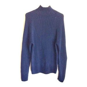 Abercrombie Navy Mock Turtleneck Sweater Size L